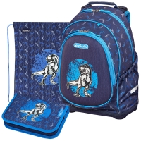 Herlitz Bliss Plus - Blue Dino - с мешком и пеналом