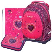 Herlitz Bliss Plus - Pink Hearts - с мешком и пеналом