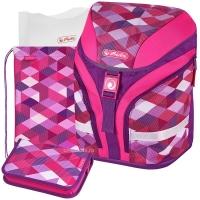 Herlitz Motion Plus - Pink Cubes - с наполнением