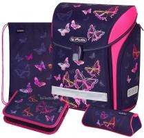 Школьный ранец Herlitz Midi Plus - Rainbow Butterfly 2020 - с наполнением (50027613)