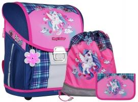 Школьный ранец MagTaller EVO Light - Unicorn - с наполнением (21917-43)