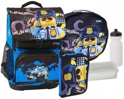 Школьный ранец LEGO Optimo - City - Police Cop - с пеналом на выбор (20179-2003-set1)