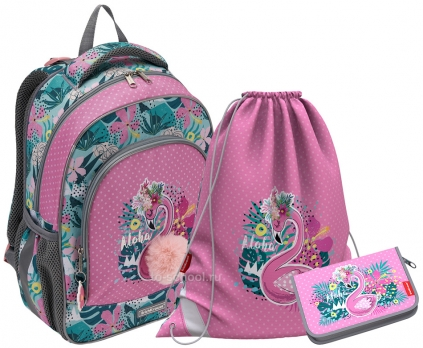 Рюкзак Erich Krause - ErgoLine 15L - Rose Flamingo - с наполнением (51603-set)