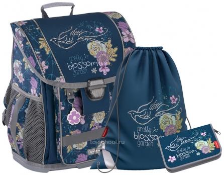 Школьный ранец Erich Krause - ErgoLine 16L - Blossom - с наполнением (51567-set)