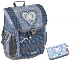 Школьный ранец Erich Krause - ErgoLine 16L - Lacey Heart - с пеналом (51571-set3)