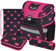 Школьный ранец Herlitz Loop Plus - Black Cat - с наполнением (50032440)