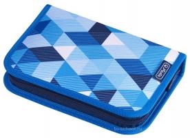 Пенал Herlitz с наполнением (31 предмет) - Blue Cubes