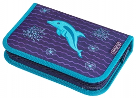 Пенал Herlitz с наполнением (31 предмет) - Dolphin